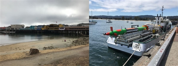 "Monterey pier and ""Test Torpeedo"""