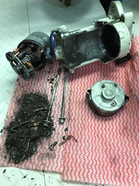 The starter was a mess when I took it apart
