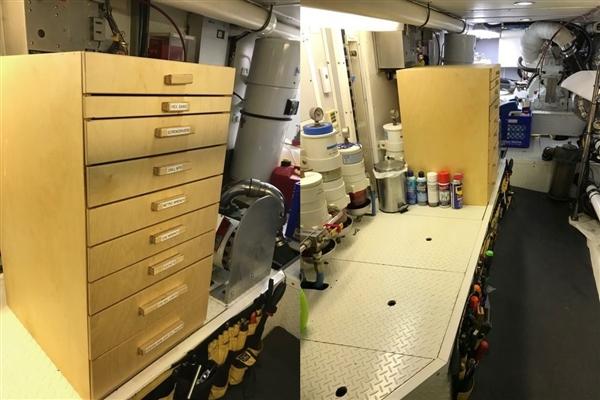 Engine room starboard side