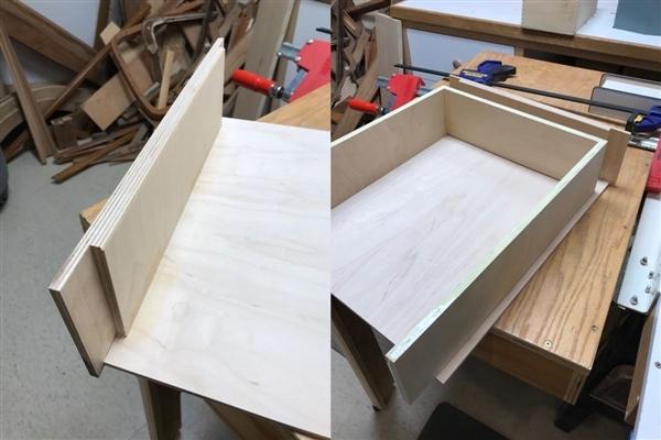 Drawer front detail