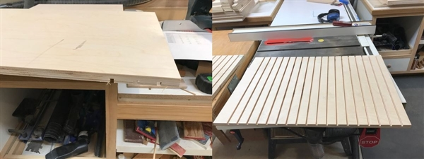 Routing the sides for the drawers to slide